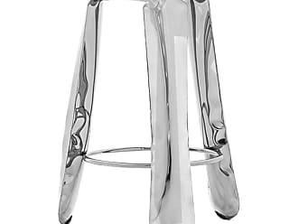 Zieta Plopp Bar Stool In Polished Stainless Steel By Zieta