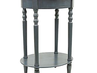 Decor Therapy FR1543 Simplify Oval Accent Table, Antique Navy