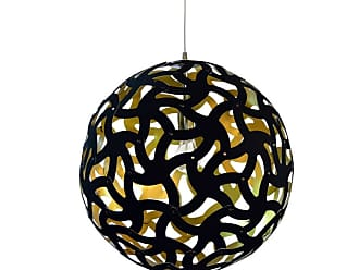 Dainolite TON-181P Tondero Single Light 18 Wide Pendant Black / Gold