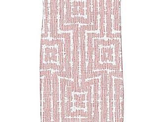 E by Design E by design HTG800OR15 Woven Tiki, Geometric Print Hand Towels, 16 x 25, Orange