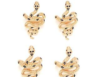 L'OBJET Lobjet - Set Of Four Snake Gold Plated Napkin Rings - Womens - Gold Multi