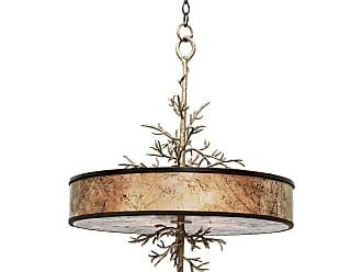 Kalco Oakham 4-Light Pendant in Bronze Gold