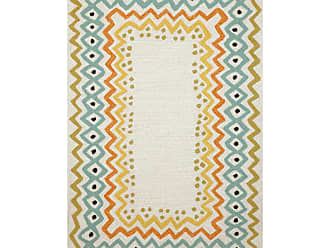 Liora Manne Capri Ethnic Border Indoor / Outdoor Rugs Natural, Size: 2 x 3 ft. - CAP23160712