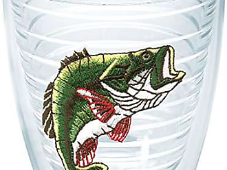 Trevis Tervis 1000480 Bass Tumbler with Emblem 12oz, Clear