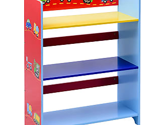 Costway Kids 3-Tier Adorable Corner Cars Book Bookshelf