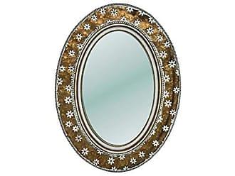 Foreside Home And Garden Brass Alden Mirror