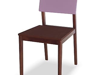 Nem Tudo é Igual Cadeira Felipe Marrom Escuro e LilásMarrom Escuro e Lilás