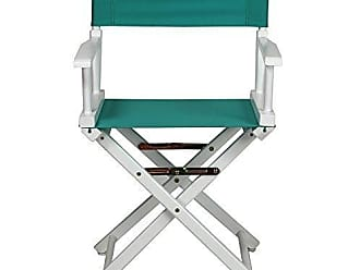 Yu Shan Casual Home 18 Directors Chair White Frame with Teal Canvas