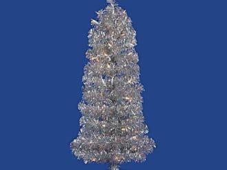 Vickerman Pre-Lit Tinsel Wreath with 50 Clear Mini Dura-Lit Lights Gold Silver 24-Inch