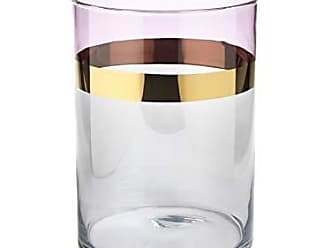 Zodax 9.75 Tall Veneto Glass Large Two-Tone Luster, Gray and Magenta Hurricanes