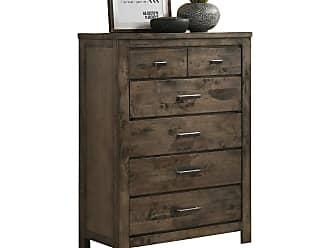 Round Hill Furniture Pavita 6 Drawer Chest - B511C