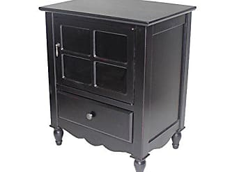 Heather Ann Creations The Vivian Collection Contemporary Living Room Wooden Single Door Drawer Accent Cabinet