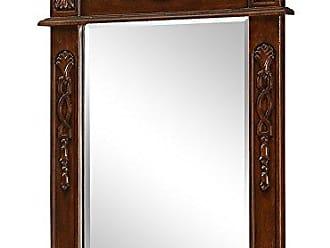Elegant Lighting Elegant Decor VM-1008 Danville Traditional Mirror, 25, Antique White