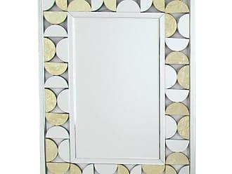 Wayborn Rectangular Beveled Gold Leaf Mirror, Size: Medium - MR310