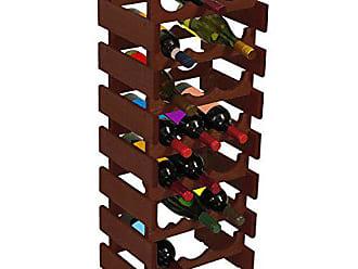 Wooden Mallet 21 Bottle Dakota Wine Rack, Mahogany