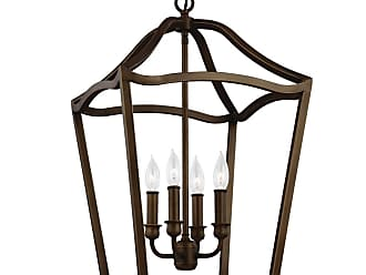 Feiss Yarmouth 4 - Light Foyer in Painted Aged Brass