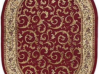 Tayse Westminster Transitional Oriental Red Oval Area Rug, 5 x 7 Oval