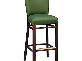 Regal Beechwood Upholstered Armless Stool with Nail Trim on Back - 2420