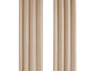 Monarch Specialties I 9801 Curtain Panel Room Darkening, Micro Suede 95 H Beige