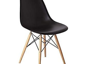 Siena Móveis Cadeira com Encosto e Pés em Madeira Flórida Siena Móveis Preto