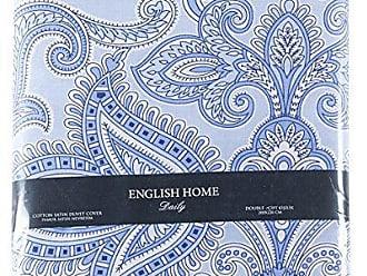 english home pure paisley bettdecke bettwasche baumwolle blau 220 x 200 cm