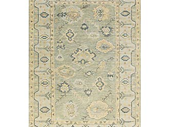 Surya HIL9017-23 Hand Knotted Casual Accent Rug, 2 by 3-Feet, Olive/Gold/Sea Foam/Teal