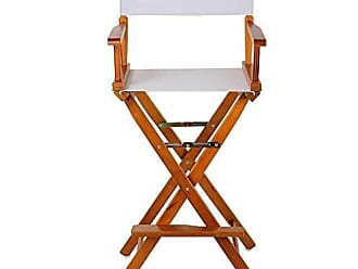 Yu Shan Casual Home 30 Directors Chair Honey Oak Frame-with White Canvas, Bar Height