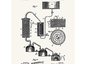 Inked and Screened SP_LIQR_837,696_TW_24_K Distilling and Rectifying Apparatus-Lorentz Print, 18 x 24, True White-Black Ink