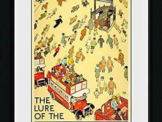 Gb Eye Ltd Transport Brightest London 52 Various Framed Print 30x40cm Wood