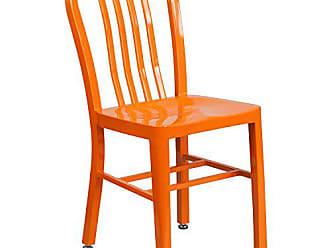 Flash Furniture Orange Metal Indoor-Outdoor Chair