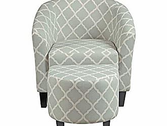 Meridian Furniture Inc Pulaski DS-2278-900-5 Upholstered Barrel Accent Chairs, 29.13 L x 27.95 W x 30.31 H, Grey