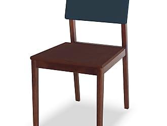 Nem Tudo é Igual Cadeira Felipe Marrom Escuro e Azul EscuroMarrom Escuro e Azul Escuro