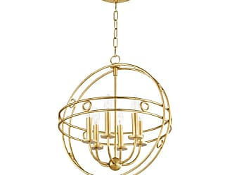 Mitzi by Hudson Valley Lighting H236706 Jade 6 Light 18 Wide Chandelier Gold Leaf / Navy Indoor