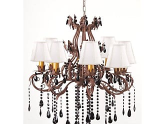Art Maison Canada IMP0253 Antique Wrought Iron Floral and Leaf Chandelier - IMP0253