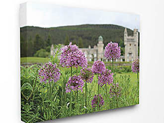 Stupell Industries The Stupell Home Decor CollectionRoyal Castle Purple Flowers Photograph Stretched Canvas Wall Art 30x40 Multi-Color