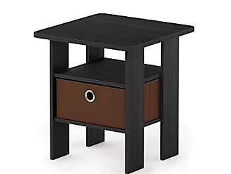 Furinno Jaya Simple Design Oval Coffee Table With Bin