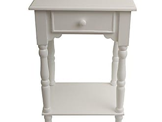 Decor Therapy FR1787 End Table, White