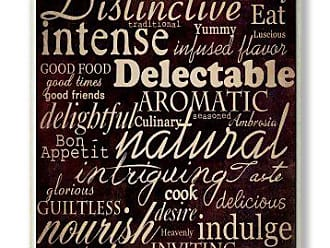 The Stupell Home Décor Collection Stupell Home Décor Dining Words Black Kitchen Wall Plaque, 10 x 0.5 x 15, Proudly Made in USA