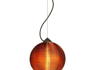 Besa Lighting 1KX-461682 Kristall 1 Light Mini Pendant with Amber