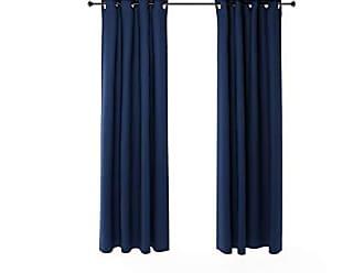 Furinno 2-FC66004DBL Collins Curtain 52x84 inches Dark Blue