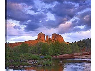 Bentley Global Arts Global Gallery Budget GCS-452150-3040-142 Tim Fitzharris Cathedral Reflected in Oak Creek at Red Rock Crossing Arizona Gallery Wrap Giclee on Canvas Print Wall Art