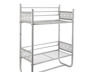 Ashley Furniture Filigree Wall Shelf, Silver Finish