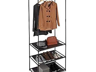 Garderobe  Hutablage  aus Metall   Haken 51 cm x 20 cm Loft weiß