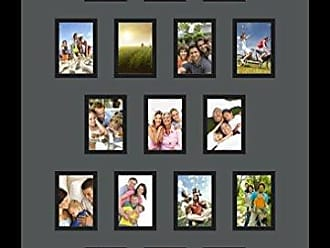 Art to Frames Art to Frames Double-Multimat-302-41/89-FRBW26079 Collage Photo Frame Double Mat with 17 - 2.5x3.5 Openings and Satin Black Frame