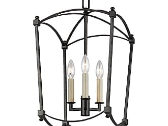 Feiss F3321/3 Thayer 3 Light 12 Wide Taper Candle Pendant Smith Steel