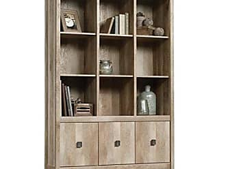 Sauder Sauder 416091 Cannery Bridge Storage Wall, L: 48.31 x W: 15.59 x H: 71.97, Lintel Oak finish