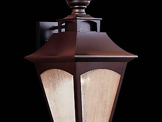 Feiss OL1002ORB Homestead Wall Mount Lantern in Oil Rubbed Bronze finish with Seeded Glass