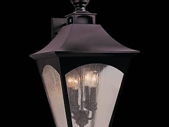 Feiss OL1004ORB Homestead Wall Mount Lantern in Oil Rubbed Bronze finish with Thick Clear Seeded Glass