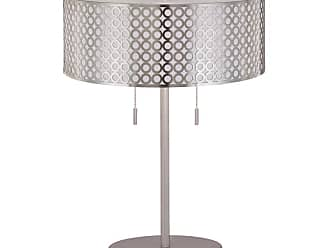Lite Source Inc. LS-21519PS 2 Light Table Lamp with Net Metal Shade with