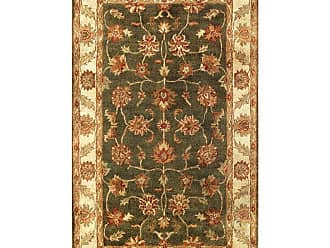 Noble House Golden Area Rug - Dark Green/Beige, Size: 8 x 11 ft. - GOLD803811